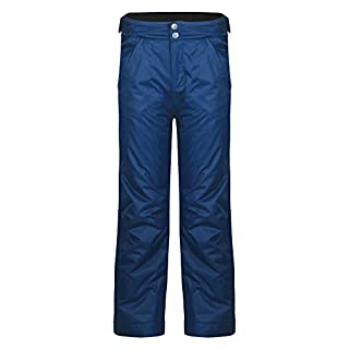 Dare2B Whirlwind II Waterproof and Breathable Insulated Kids Ski Pants Salopettes, Admiral Blue, Size 9-10