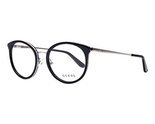 Guess Brille (GU-2707-V 001) Acetate Kunststoff - Metall glänzend schwarz - glitzer silber