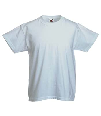 Fruit of the Loom Childrens T Shirt in White Size 9-11 (SS6B)