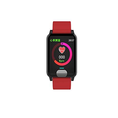 Intelligente Uhr Armband Farbdisplay Gesundheitsüberwachung EKG + PPG Test Wasserdicht Rot