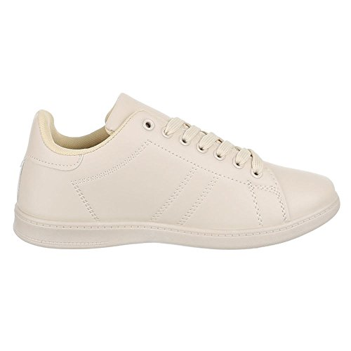 Chaussures pour femme, zy001, Chaussures Sneaker Casual Chaussures Beige - Beige - Beige