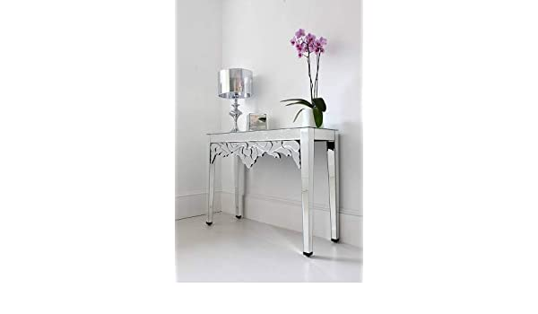 Venetian Design Venetian Mirrored Console Table Amazon In Home Kitchen
