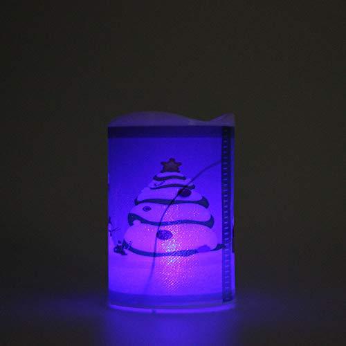 Qmber LED elektronische flackernde flammenlose Wachskerzen Nachtlicht Xmas Decor Lichterkette Außen Innen Weihnachten LED Fenster Deko Party Garten Hochzeit String Fairy Licht (A)