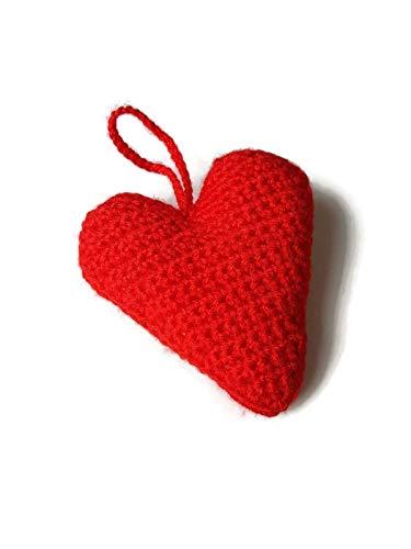 Rotes Herz-Dekoration Geschenk für ihre Liebe handgemachte Schlafzimmer Kinderzimmer Ornament hängen