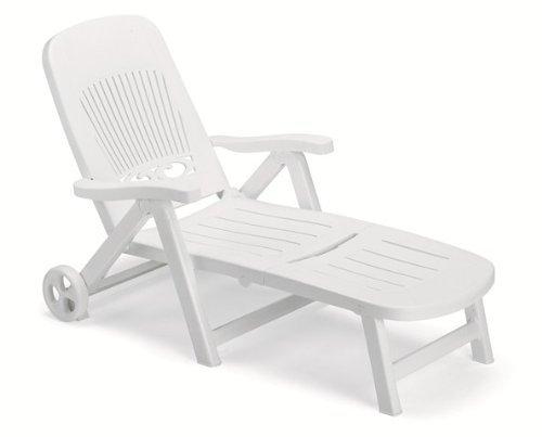 Scab splendida letto sdraio pieghevole con ruote in bianco * * 100% impermeabile * *