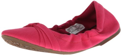 Keen Women's Cortona Bow Canvas Ballet Flat,Rose Red,6.5 M US (Flat Ballet Red)