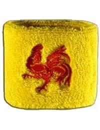 Digni® Poignet éponge avec drapeau Belgique Wallonie, pack de 2