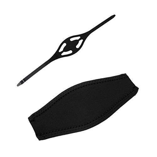 MagiDeal Ersatzband für Taucherbrille Tauchmasken, Silikon + Neopren Maskenband - Tauchen Schnorchel Maske Gepolstert Neopren Abdeckung