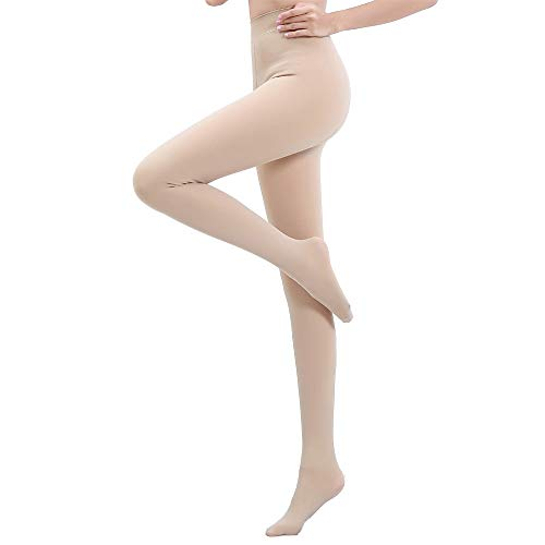 TOPTETN Herbst und Winter plus dicke Samtstrümpfe Strumpfhosenfüße warme Leggings Legging Strümpfe Style Strumpfhosen Socken schwarze und fleischfarbene Socken Damen Mädchen Siamese (Beige)