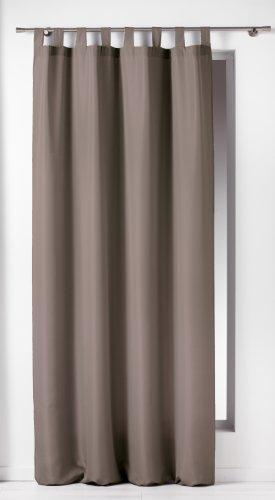 Douceur d'interieur  - 1601051, tenda con passanti, 140 x 260 cm, essentiel, poliestere unito, marrone