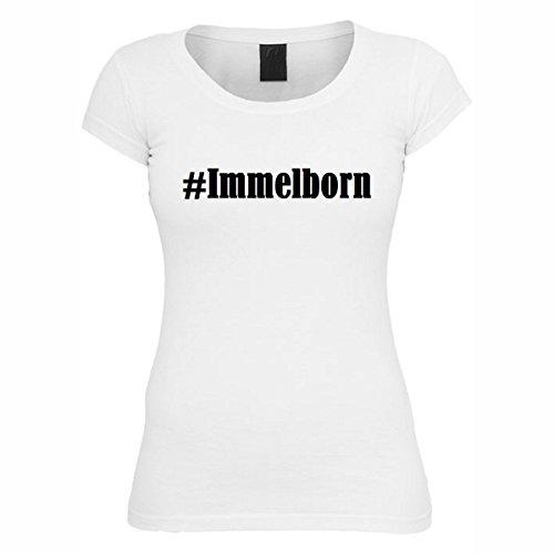 T-Shirt #Immelborn Hashtag Raute für Damen Herren und Kinder ... in den Farben Schwarz und Weiss Weiß