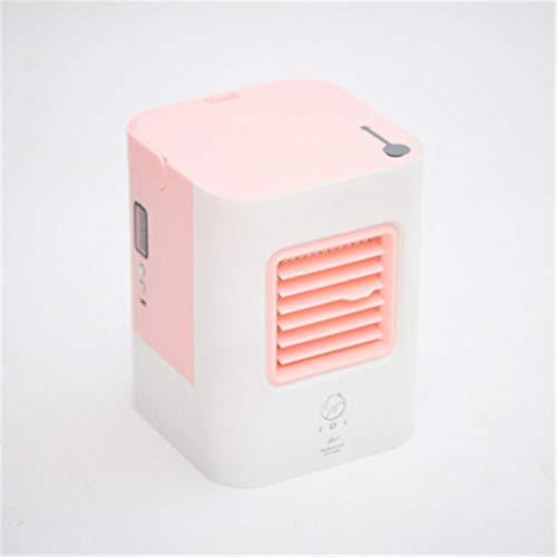 LJlucky Tragbarer Luftkühler Eisventilator, Mini-USB-Luftkühler Für Den Persönlichen Gebrauch, Tischventilator Mit 5 Farben Für Den Bürohaushalt Im Freien,Lightpink (Der Bank Fenster Unter)