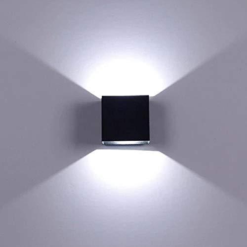 LED Wandleuchte innen modern Wandlampe Beleuchtung Metall Nachtlicht Einfach Küche LED 6W Wandleuchte lampa Aluminium Wandleuchte track engineering square indoor Wandleuchte Nachttisch Schlafzimmer Wa