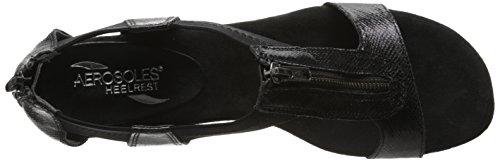 Aerosoles Serenyeti Toile Sandales Compensés Black Combo