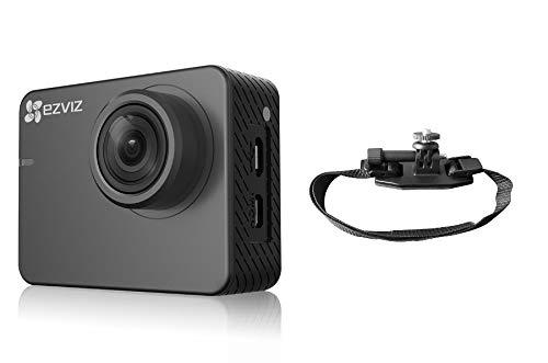 Ezviz S2 Lite Sport & Dash Camera BIKE, risoluzione Full HD, WiFi, Bluetooth 4.0, modalità Sport e Guida, supporto casco bici incluso, Grigio