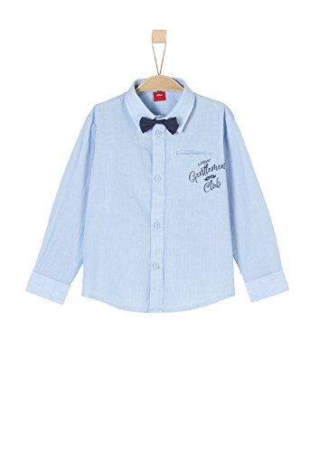 s.Oliver Red Label Junior Jungen Hemd mit abknöpfbarer Fliege Blue Check 116/122.reg (Jungen Label Red)