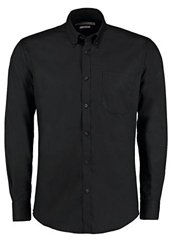 Kustom Kit Slim Fit Premium Oxford Shirt Langarm Weiß