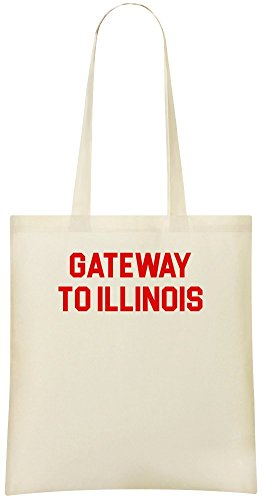Gateway nach Illinois - Gateway To Illinois Custom Printed Shopping Grocery Tote Bag 100% Soft Cotton Eco-Friendly & Stylish Handbag For Everyday Use Custom Shoulder Bags