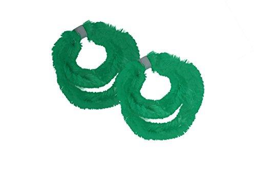 Chenille-2 Stück (* Zwei Paar (vier Stück) Nabenputzringe aus Chenilledraht in verschiedenen Farben (Grün))