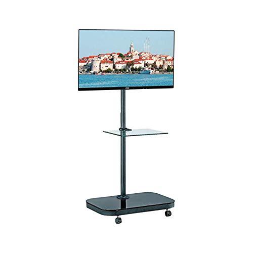 Allcam FS941 52Zoll Portable Flat Panel Floor Stand Schwarz - Flachbildschirm-Bodenhalter (Schwarz, Portable Flat Panel Floor Stand, 132,1 cm (52 Zoll), TV, 40 kg, 100 x 400 mm)