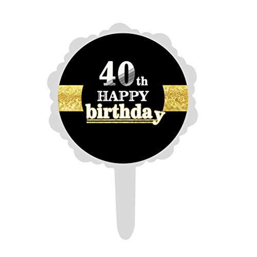 ppy Birthday Kuchen Cupcake Topper Kuchen Dekorationen für 40. Geburtstag Partydekorationen liefert ()