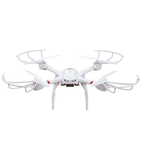 GizmoVine MJX 6-Assi GYRO Quadricottero-X101 4 Canali 2.4G Elicottero RTF RC Drone con Modalità Headless Ritorno Automatico Un Tasto Funzione 3D Roll FPV Tempo Reale con 1.0MP 720p HD per IOS e Android