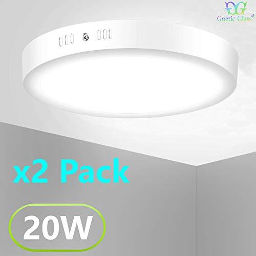 Plafón Techo LED Downlight 20W GNETIC GLASS Redonda Circular 1600LM Color Blanco Cálido 3000K Angulo...