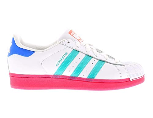 adidas Superstar W, Damen Sneaker Low-Tops, White pink BB4307 - Größe: 37 1/3 EU