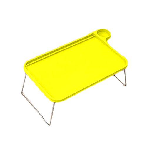 bismarckbeer - Table de lit avec pieds pliables pour ordinateur portable - Pour manger en étudiant, Green, Taille unique