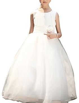 17b0be7779f5b Senza Maniche Vestito Principessa Tulle Abito Da Ragazze Abiti Matrimonio  Tutu Cerimonia Vestito