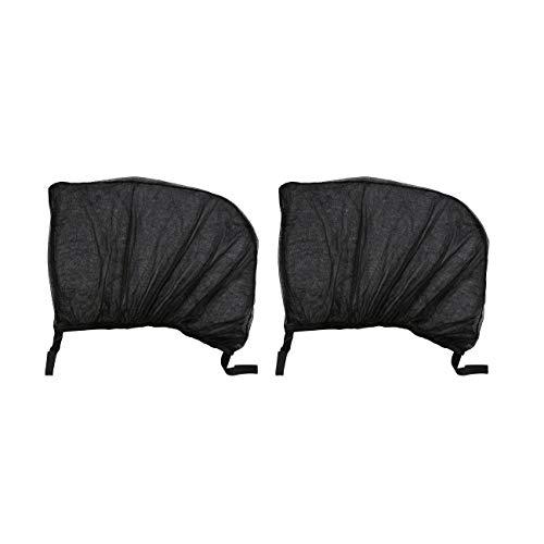 Elviray 2 Stücke Flexible Auto Seite Heckscheibe Sonnenschutz Mesh Vorhang Auto UV Schutz Mesh Abdeckung Moskito Staub Schutzhülle