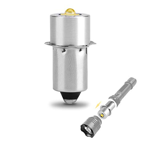 Zerodis 3W P13.5S LED Taschenlampe Lampe super hell 160~180LM Ersatz Lampe Taschenlampe Lampe Arbeitslicht LED Ersatzbirne für Taschenlampe (White 3v)