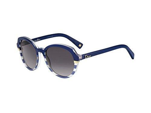 Dior Für Frau Dior Croisette 3 Striped Blue / Blue / Grey Gradient Kunststoffgestell Sonnenbrillen