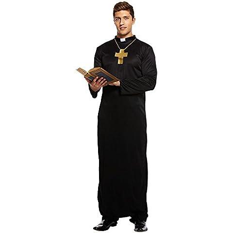 Disfraz De Párroco Para Adulto (Negro)
