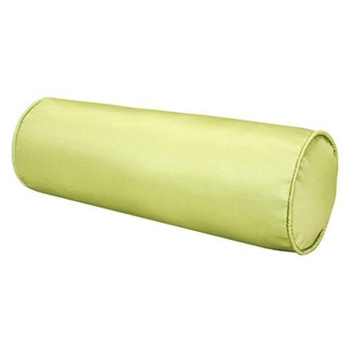 Taomi casa Divano Cuscino Cuscino cuscino auto Vita cuscino di simulazione di seta gialla Verde Arancione Tinta unita dal pacchetto ( colore : Yellow-green )