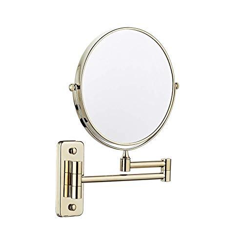 Makeup Mirror 3X Vergrößert Wandmontage Kosmetikpiegel Spiegel 360 ° Drehbar Erweiterbar Falten Einstellbar Schönheit Rasieren Spiegel Wenaqin,C,6inch (Blinde Fleck, Der Lange Spiegel)