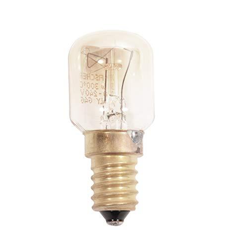 Backofen Mikrowellenlampe (25 W, E14, 300c, Kanone, Ariston, Creda, Hotpoint, Indesit, Jackson Schnellkochtopf für Mikrowelle, Ofen, 25 W, ses, 300c,