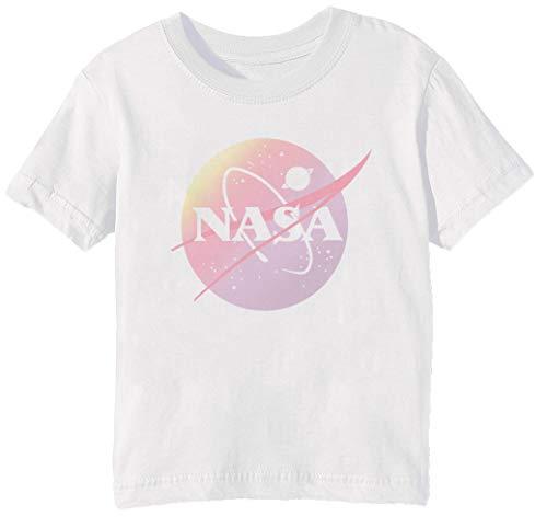 NASA Aesthetic - NASA Niños Unisexo Niño Niña Camiseta Cuello Redondo Blanco...