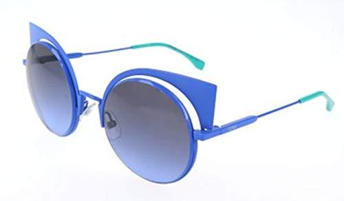Fendi Damen FF 0177/S 27F/HL-53-22-135 Sonnenbrille, Blau, 53