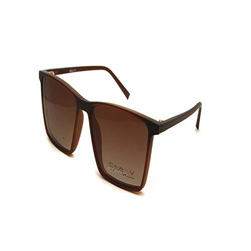 Vikimen Sportbrillen, Angeln Golfbrille,Unisex Polarisiert Sunglasses Magnetic Clip On Glasses TR90 Ultralight Frames Women Men Drive Goggles Myopia Eyewear Brown