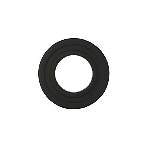 Kamino Flam Ofenrohrrosette schwarz, Sichtblende aus Stahl speziell für Pelletöfen, Kaminrosette mit hitzebeständiger Senotherm® Beschichtung, Rosette geprüft nach Norm EN 1856-2, Maße: ca. Ø 80 mm