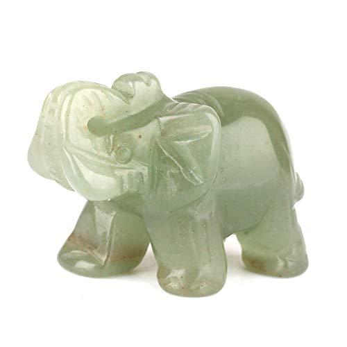 Bolange Adornos De Elefante Jade Crafts Jade, Exquisita Talla De Piedra, Adornos...