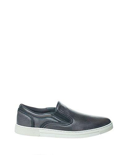 Salvatore Ferragamo Herren 0662642-Mc Schwarz Leder Slip On Sneakers - Miraggio Salvatore Ferragamos Schuhe