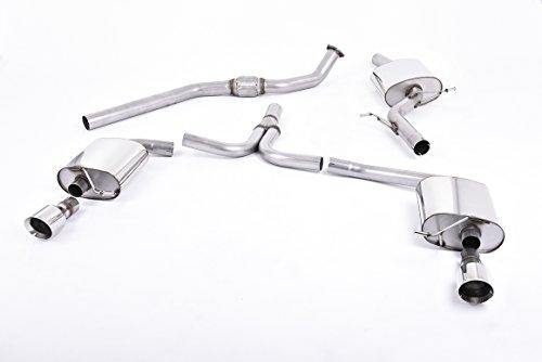 Sport Auspuff Milltek SSXAU302 Anlage ab KAT | DPF (TÜV) - A5 Coupé 2.0 TFSI (165 kW /225 PS) | HSN: 0588 | TSN: AXS | A5 Coupé (B8) 2-Türer Coupe multitronic -