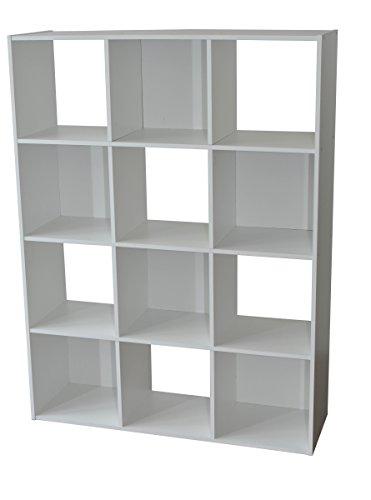 Alsapan Etagère, Bois, Blanc, 92 x 30 x 123 cm
