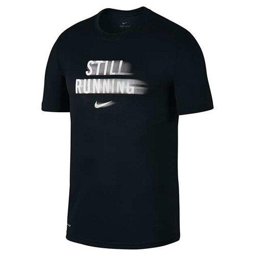 Nike Herren Dry Running T-Shirt, Black/White, L