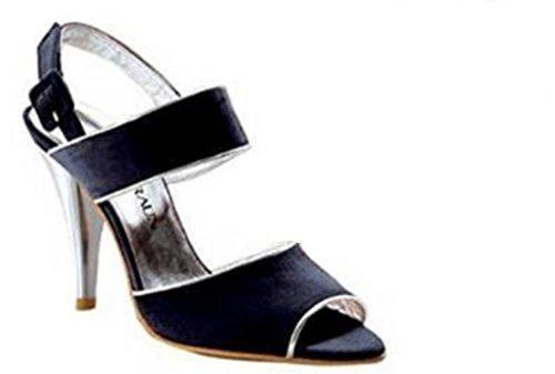 Sandalette von David Braun Leder in schwarz Schwarz