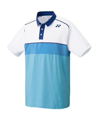 Yonex busto-abbigliamento maglietta Polo da uomo, Bianco, L, CPM101375