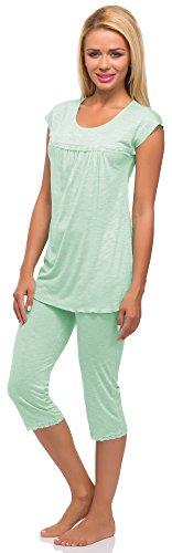 Merry Style Damen Schlafanzug Modell 978 Minze