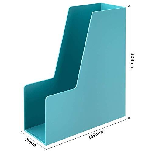 Ordner Aufbewahrungsbox Einfache Desktop-Ablage Box Kostenlose Montage Kit Büromaterial (4 Farben) Desktop-Bücherregal (Farbe: Blau) - Schublade Montage-kit